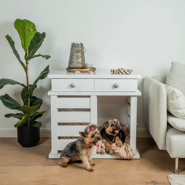 Pets_feel_Good_Hundebox_Helga_aus_Holz_für_Zuhause_ Hundekennel_aus_Holz_mit_Schubladen