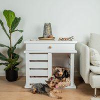 Pets_feel_Good_Hundebox_Elli_aus_Holz_für_Zuhause_ Hundekennel_aus_Holz_mit_Schublade